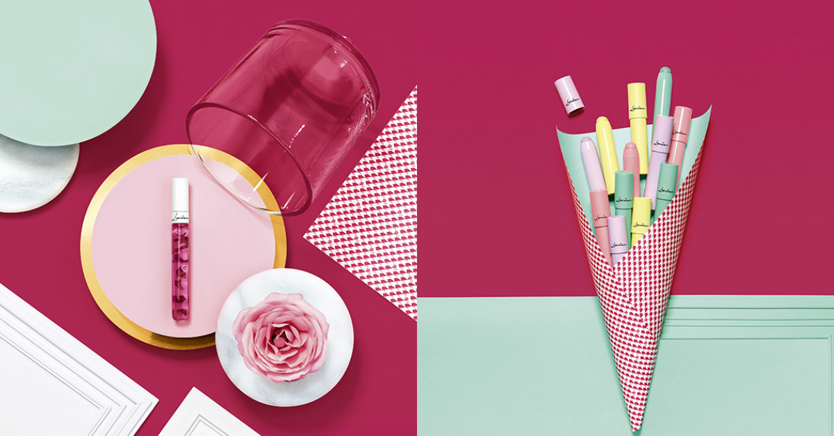 美到以為是甜點!漂浮著玫瑰花瓣的唇蜜、馬卡龍腮紅,可愛到爆炸的LANCOME春妝一次看!