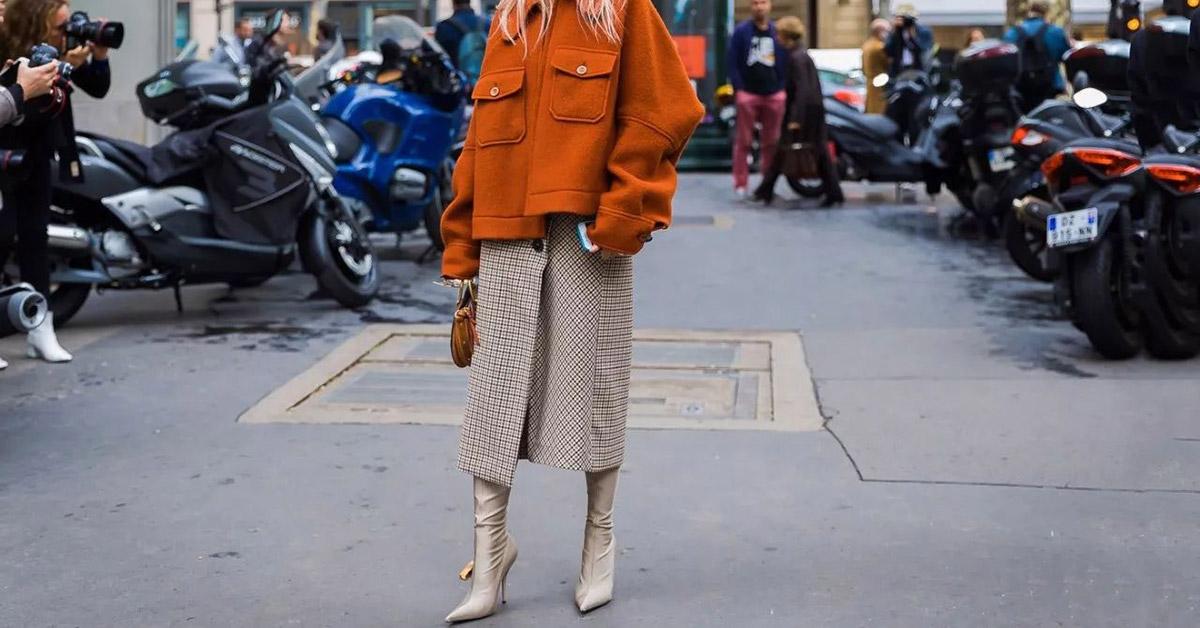 冬天穿裙也保暖不怕冷,毛呢裙穿搭讓妳溫暖又優雅