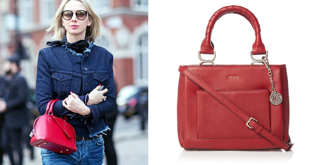 【2017聖誕倒數 Day 9 】DKNY紅色肩背包,打造2017最時尚包款