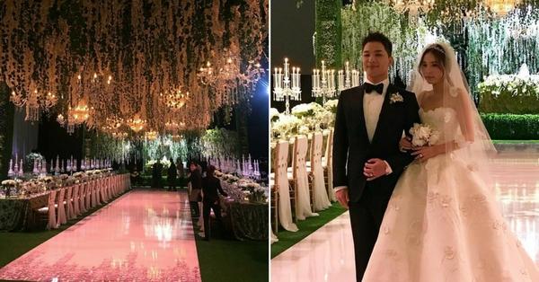 太陽、閔孝琳結婚照片曝光!垂吊浪漫玫瑰、法國皇冠和夢幻婚紗讓賓客都感到幸福滿分