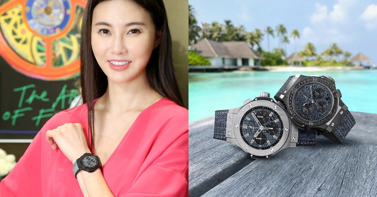 不讓孫芸芸專美於前,孫瑩瑩手戴60萬HUBLOT腕錶詮釋三種度假穿搭!