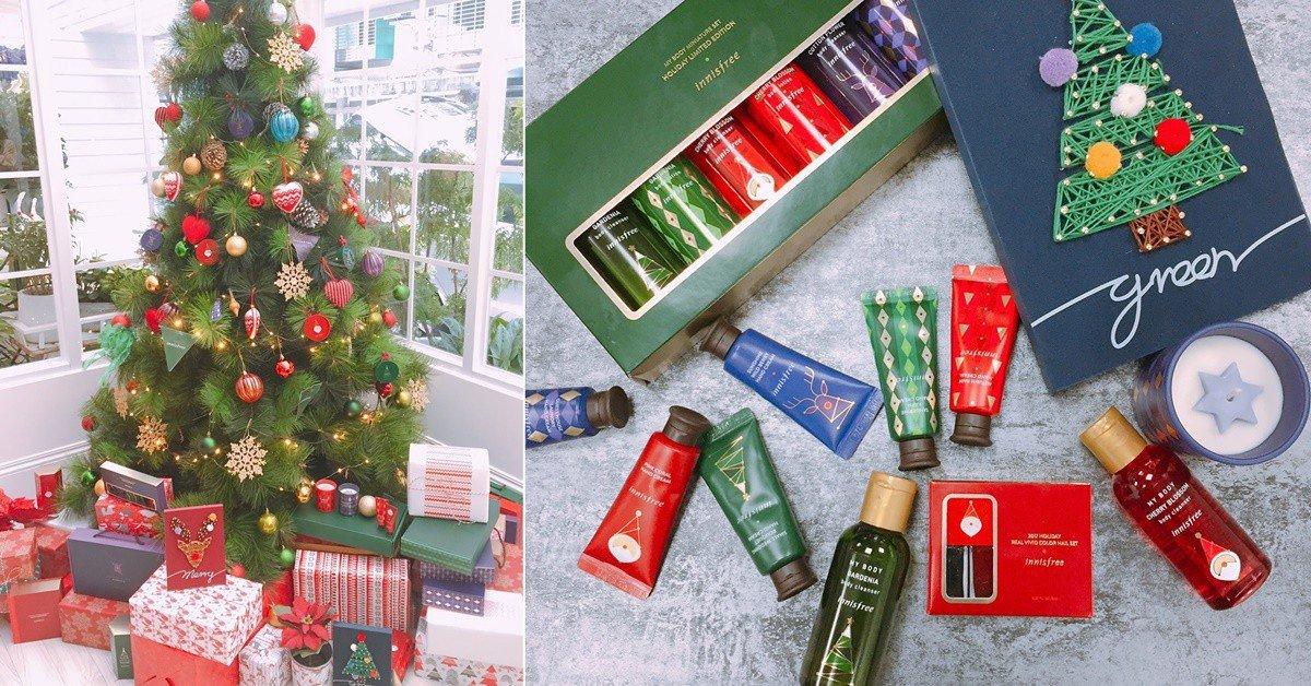 首度推出的香氛透明花瓶實在太可愛了!innisfree 2017綠色聖誕系列依舊是送禮好選擇