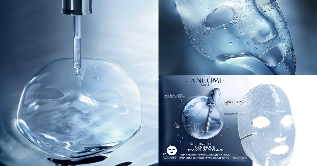 史上最有感!LANCOME推出會「融化」的面膜,越敷越薄,花20分鐘敷一片面膜,就相當於一瓶小黑瓶活性!