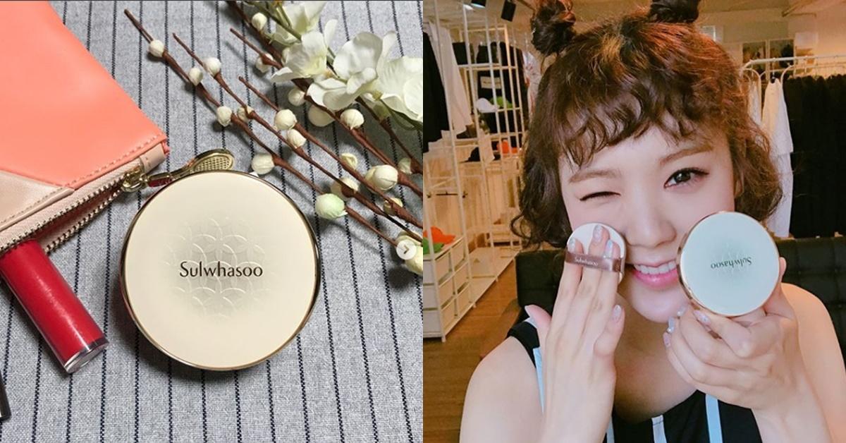 連2NE1的Dara都愛用!韓妞讚爆的雪花秀第四代氣墊粉餅加上氣墊亮采霜,超美光潤肌hen可以!