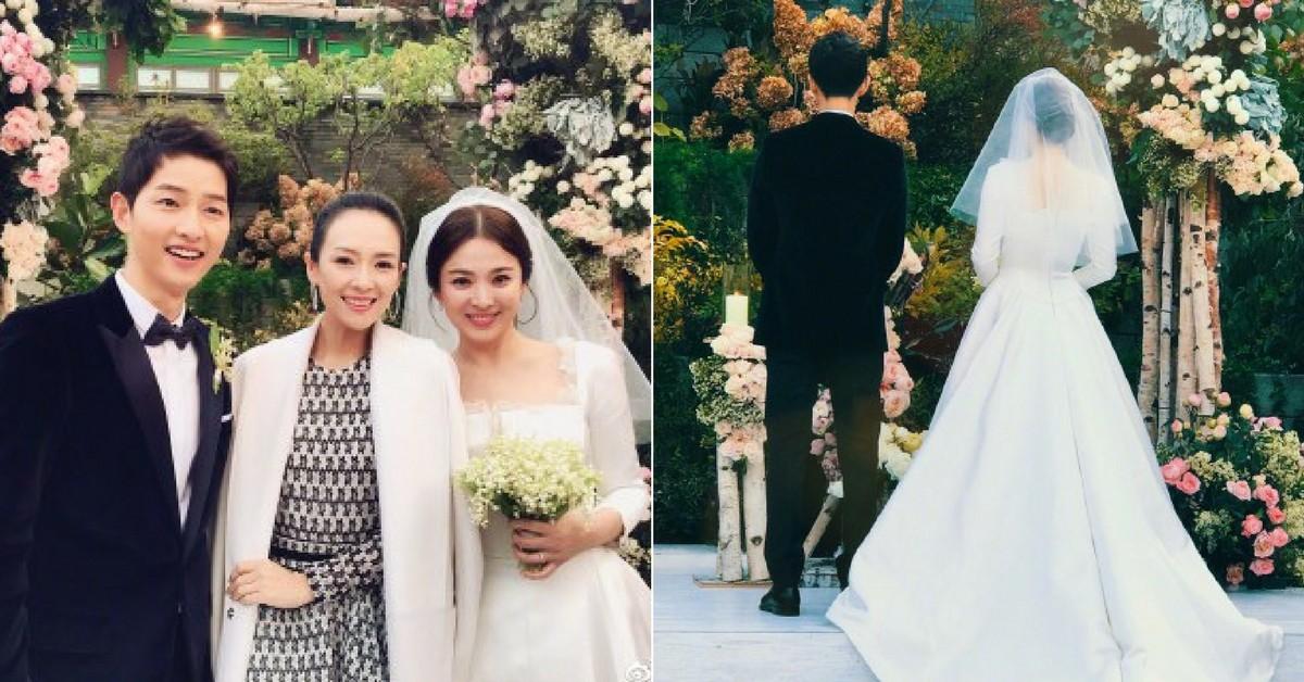 宋仲基宋慧喬世紀婚禮照出爐,高顏質新人現場猶如韓劇場景