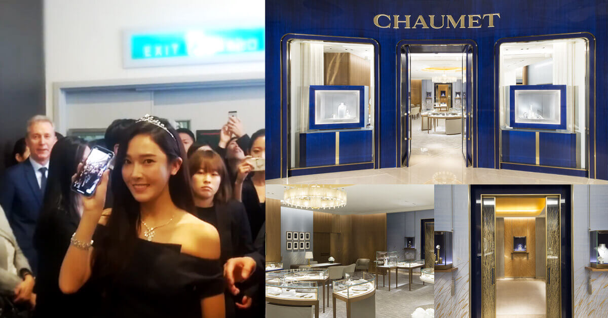 巨星歐妮潔西卡親民SAY HI〜為皇室珠寶品牌CHAUMET概念店站台!