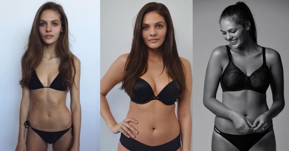 「希望大家都能對自己的體態感到滿意!」超瘦模特兒分享增胖後的真情告白
