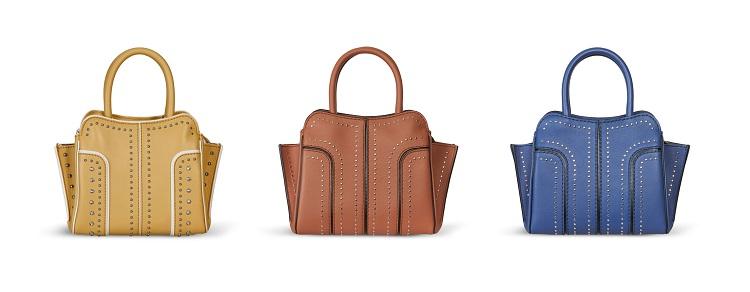 台北101獨家限定系列-鉚釘裝飾TOD'S Sella Bag