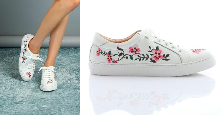 刺繡休閒鞋