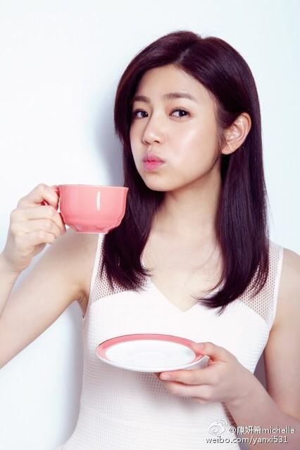女星陳妍希告別水腫,成功進入V字臉行列。