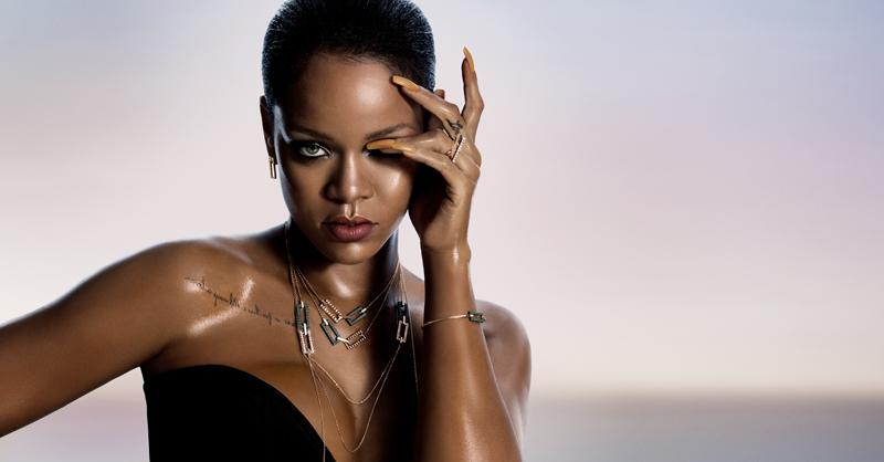 頂級珠寶品牌Chopard蕭邦偕同西洋天后Rihanna蕾哈娜共同設計「Rihanna ♥ Chopard」聯名系列。