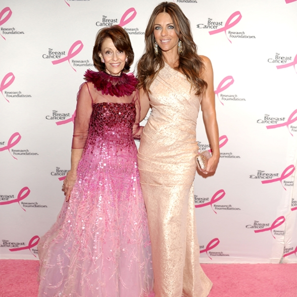 Evelyn Lauder and Elizabeth Hurley at the 2011 BCRF Hot Pink Party
