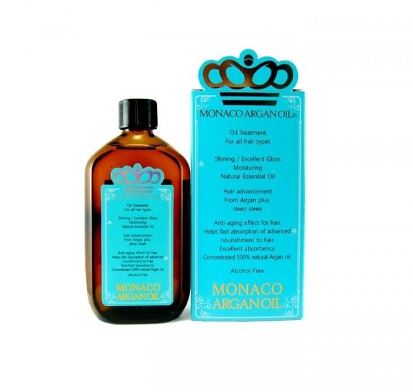 Monaco Argan Oil 摩納哥堅果油極緻順髮精華,100ml/NTD1,500。
