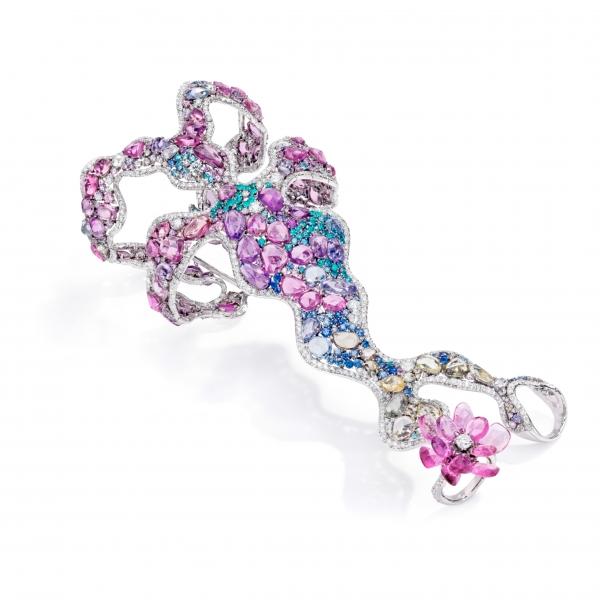 華裔珠寶設計師 ANNA HU 珠寶展作品-莫內睡蓮 戒鐲