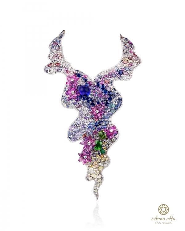 華裔珠寶設計師 ANNA HU 珠寶展作品-莫內睡蓮 項鍊
