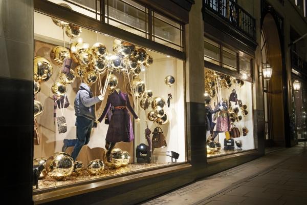 英倫風金色聖誕櫥窗
