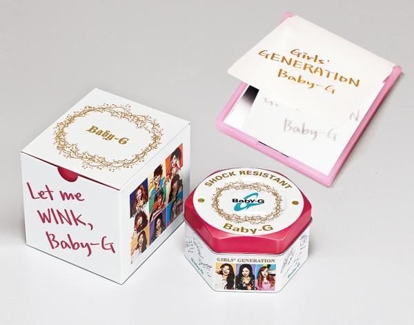 少女時代聯名錶款特殊包裝以及隨購買少女時代聯名錶款附贈鏡子
