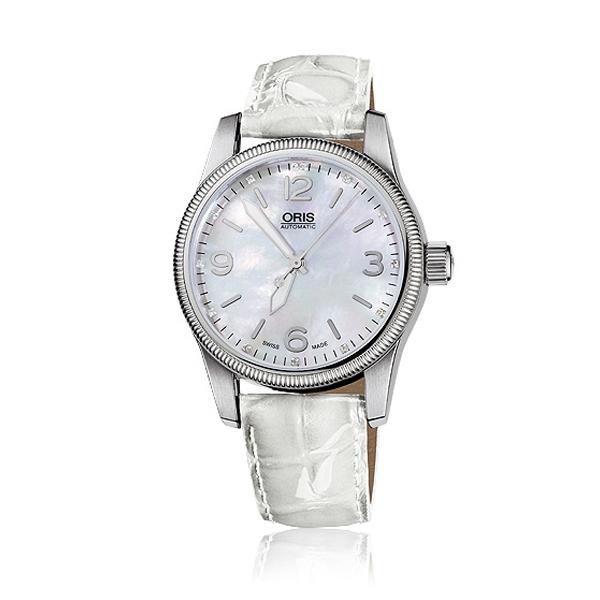 Oris 大錶冠仕女機械鑽錶,40,800元。