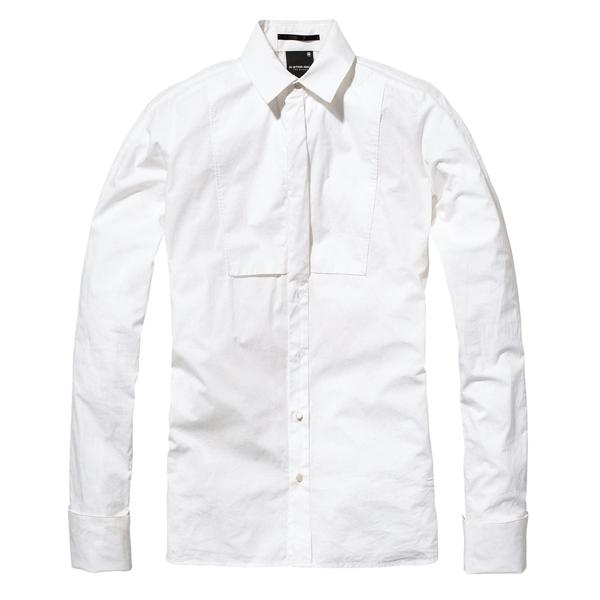G-Star白色襯衫,價格未定。
