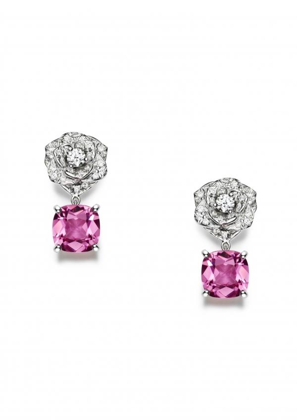 粉紅色的寶石不但可以襯托出好氣色,也能更強調女性的甜美。