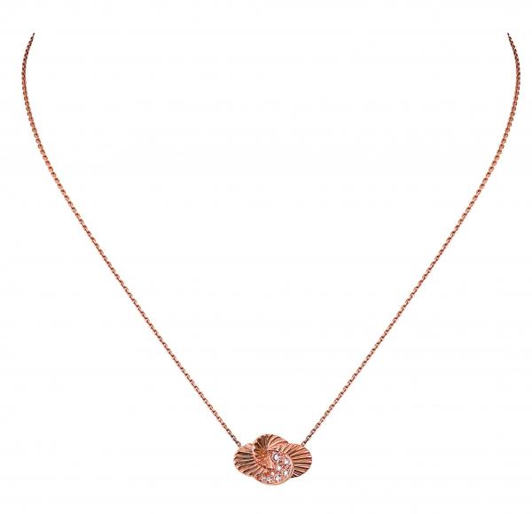 卡地亞Paris Nouvelle Vague系列Impertinente項鍊,玫瑰K金鑲嵌鑽石,參考價格約NT$ 165,000。