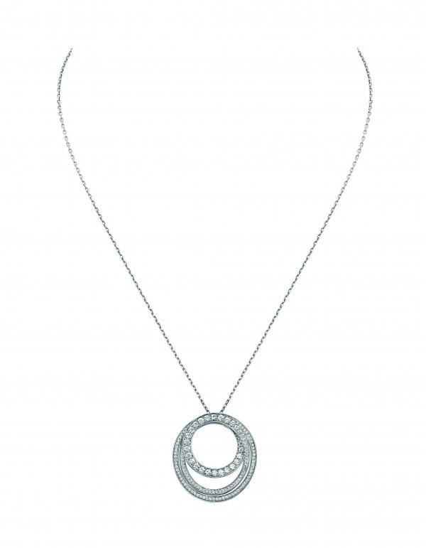 卡地亞Paris Nouvelle Vague系列Délicate戒指,白K金鑲嵌鑽石,參考價格約NT$ 493,000。