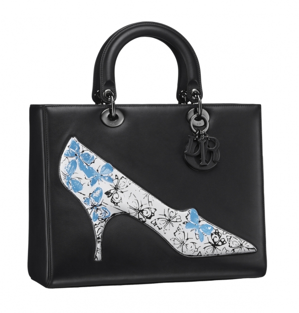 Lady Dior經典黑飾以Andy Warhol繪圖手提包約NT$250,000