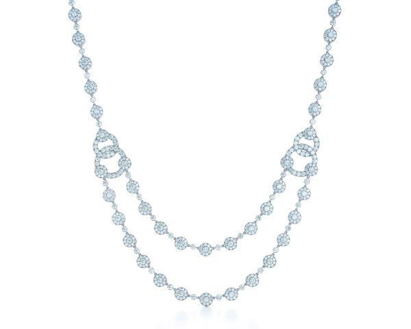 Tiffany Circlet鉑金鑽石項鍊,參考價NT$5,200,000。