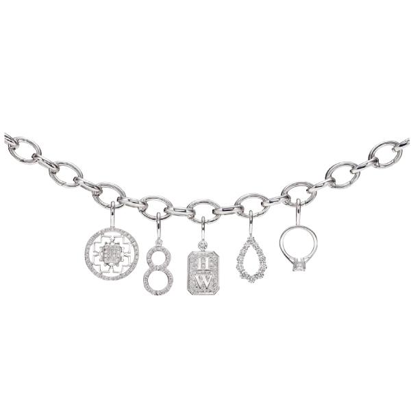 Harry Winston 鑽石幸運吊飾手鍊,價格電洽。