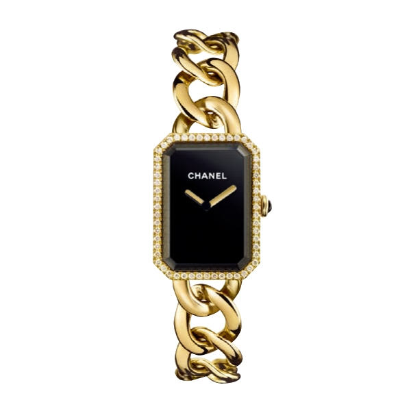 Chanel Horlogerie Première 18K 黃金錶帶及 鑽石錶殼腕錶,907,000元。