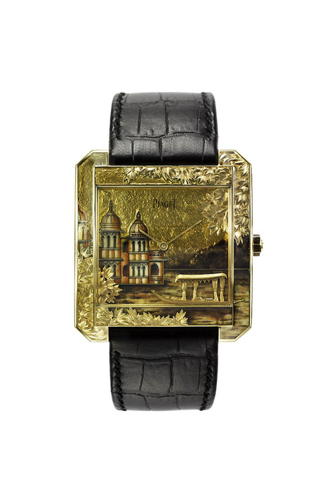 Piaget Mythical Journey Protocole XXL 微繪琺瑯金雕腕錶,10,307,000元。