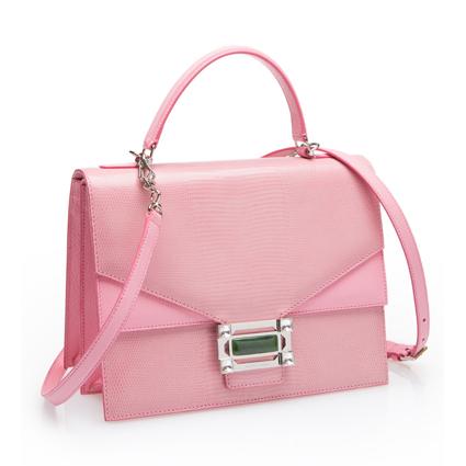 玩味結構系列粉紅色提包,49,800元。