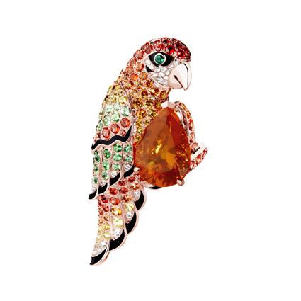 「Animaux」(動物)系列,Nuri 主鑲火蛋白鸚鵡造型戒指,2,140,000元。
