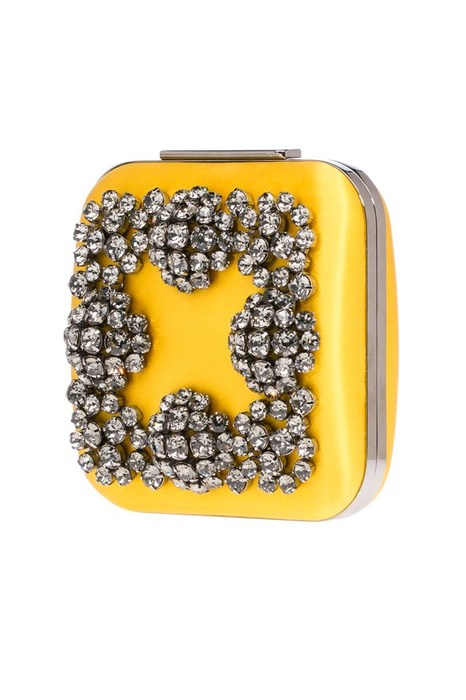 Manolo Blahnik Yellow Clutch