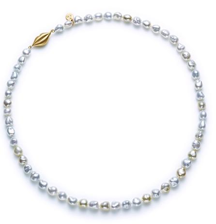 南洋變形珍珠黃K金項鍊NTD74300