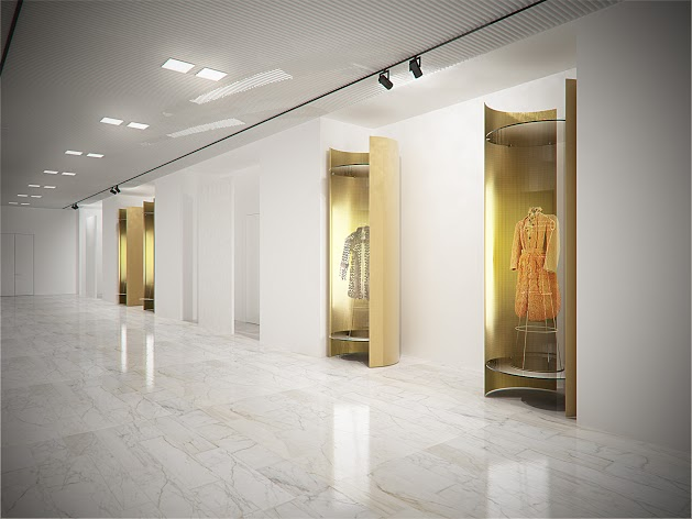 Fendi 新總部展示許多經典服飾。