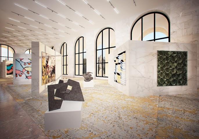 位於義大利文化館的Fendi新總部,內有獨立的藝術展區。