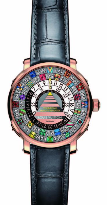 Louis Vuitton Escale 世界時間三問腕錶
