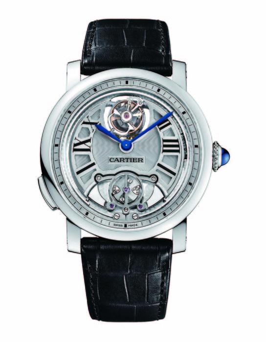 Cartier Rotonde de Cartier 浮動式陀飛輪三問腕錶