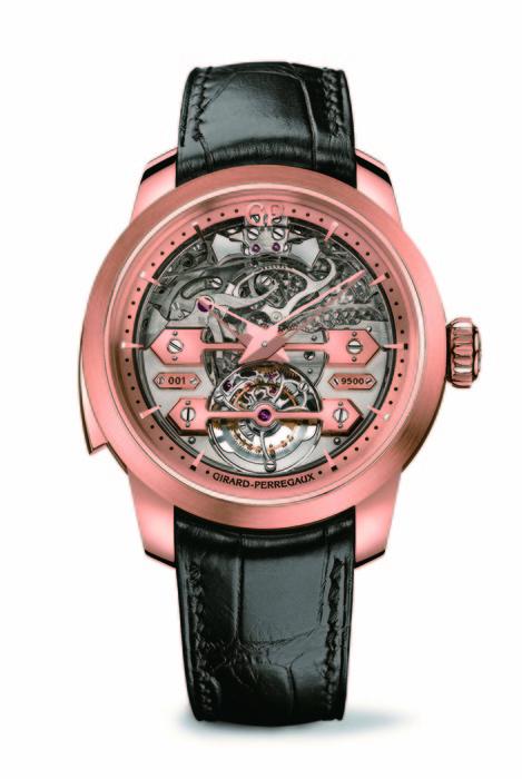 Girard-Perregaux 三金橋陀飛輪三問腕錶