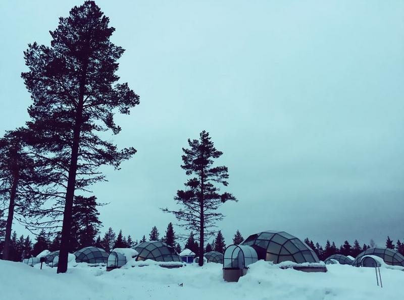 北歐的冬季,所有的東西都覆蓋著一層厚厚的白雪~