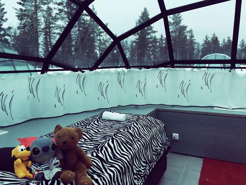 如果想要保有一點點的私人空間,可以將窗簾拉上哦!