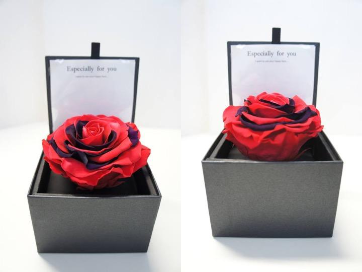 TIERRA永生花禮盒  單色LINDA/雙色及七彩ARCOIRIS $2000 (SIZE: 10.5*10.5*7.5 cm)