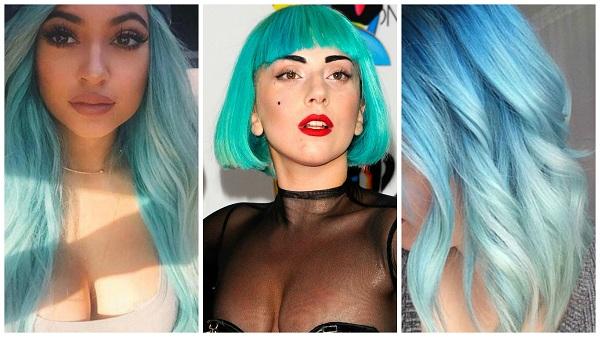 Kylie Jenner 和 LADY GAGA 的珍珠貝殼藍髮出場就是焦點