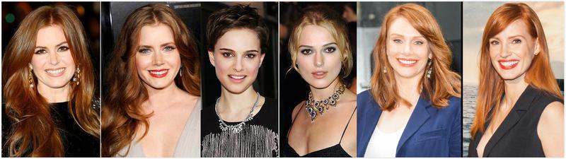 (由左至右)艾拉費雪Isla Fisher、艾美亞當斯Amy Adams、娜塔莉波曼Natalie Portman、綺拉奈特莉Keira Knightley、布萊絲霍華Bryce Howard、潔西卡崔絲坦 Jessica Chastain
