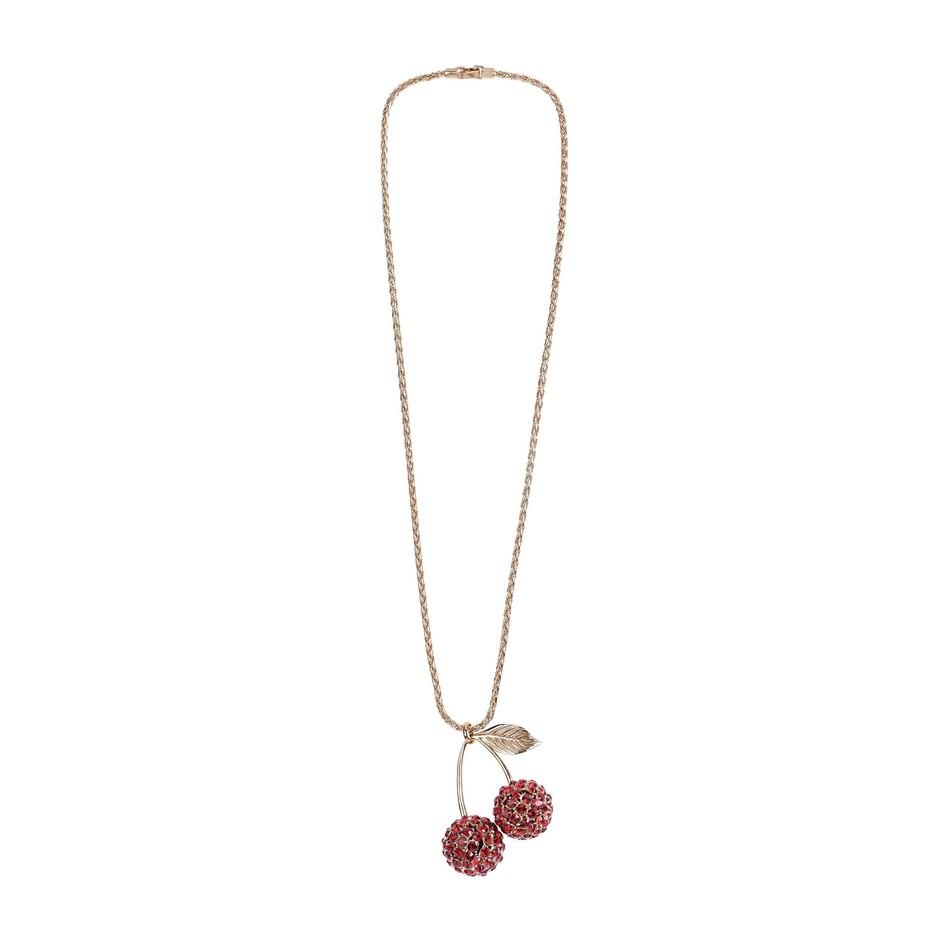 Sonia Rykeil 聖誕水晶櫻桃項鍊,價格店洽。