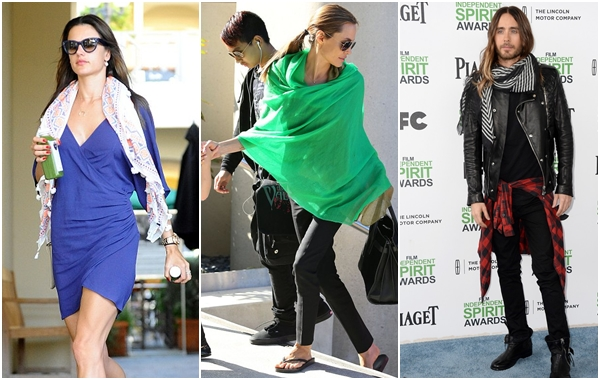 亞歷珊卓安布羅休Alessandra Ambrosio、安潔莉娜裘莉Angelina Jolie和加爾德勒托Jared Leto
