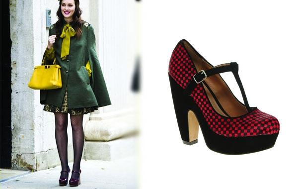 莉頓梅斯特(Leighton Meester)一穿上瑪麗珍復古鞋就擁有歐洲貴族學生氣質!
