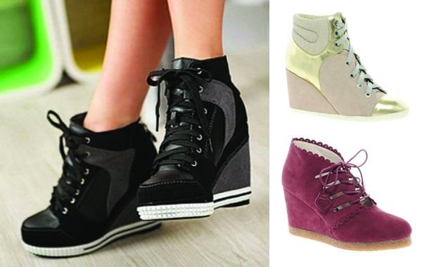 厚底流行的元素,除了靴子外,當然少不了運動休閒鞋!內增高厚底鞋,讓許多不想穿跟鞋卻想拉長腿比例的女孩造了許多福利呢。
