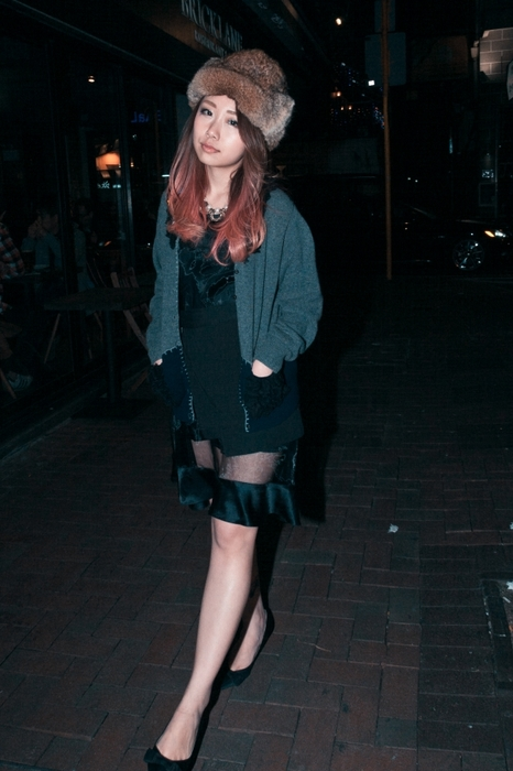 Daydream Nation/ SS14 Tin Man's Sheer Skirt/ Bad Witch Necklace/ AW13 Cardigan The Layers Black Skirt